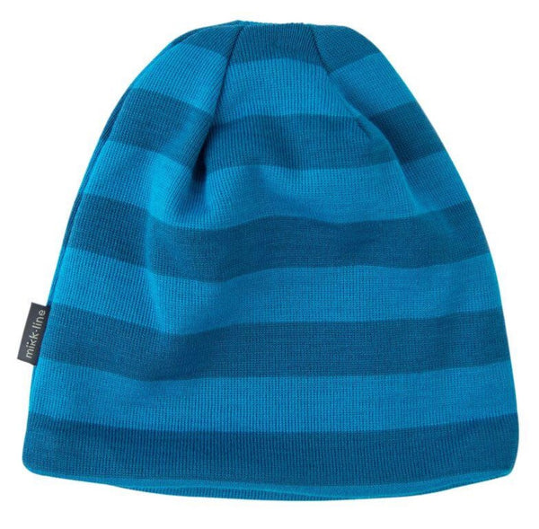 Mikk-line wool hat with blue stripes<br>Size 3-10Y