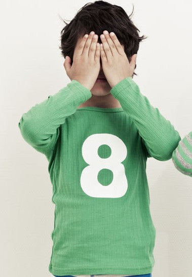 Milibe t-shirt, number 1, apple green