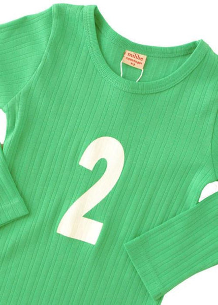 Milibe T Shirt Number 2 Apple Green