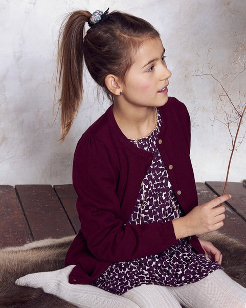Mini A Ture Gunver dress, blackberry wine<br>Size 3-5Y