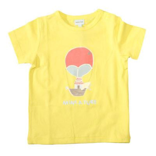 Mini A Ture hot air ballon t-shirt, yellow