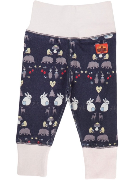 Modéerska Huset blue baby pants, Deep Forest