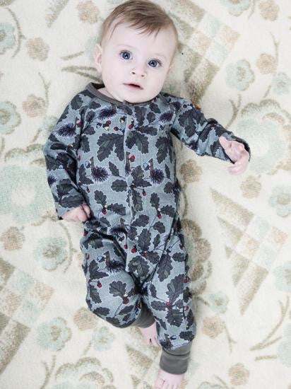 Modéerska Huset organic one-piece, Squirrel print