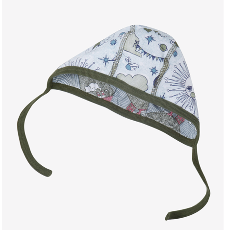 Modeerska Huset baby hat, 2 prints<br>Up and Above & The Baltic