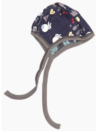 Modeerska Huset baby hat, 2 prints, To squirrel & Deep Forest