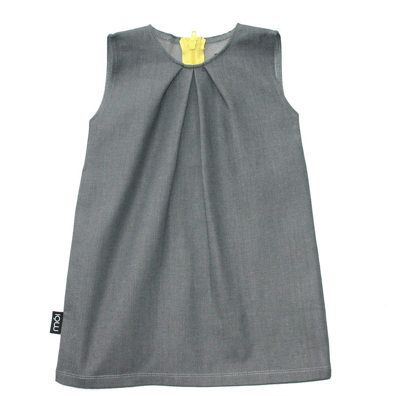 Moi organic grey denim dress