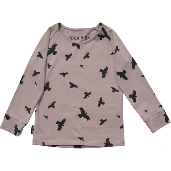 Moi organic t-shirt l/s, dusty rose
