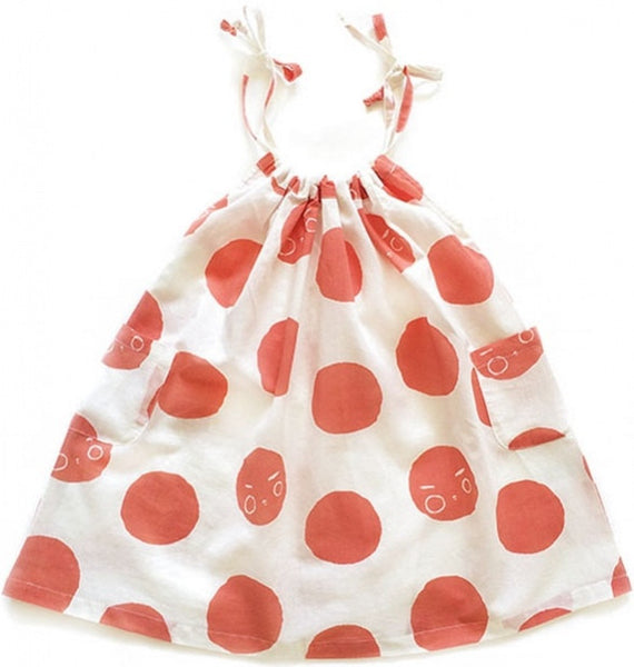 Nadadelazos organic dress, red nar<br>Size 2-10Y