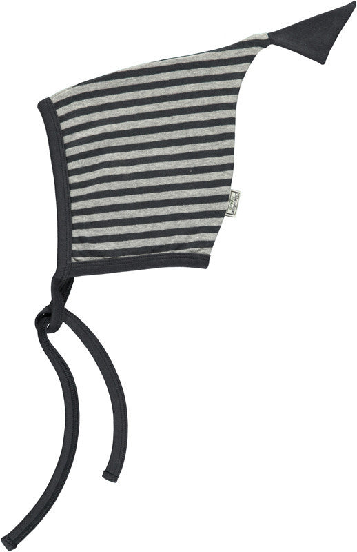 Okker-Gokker organic baby hat, gray stripes