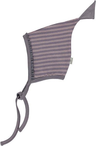 Okker-Gokker organic baby hat, purple stripes