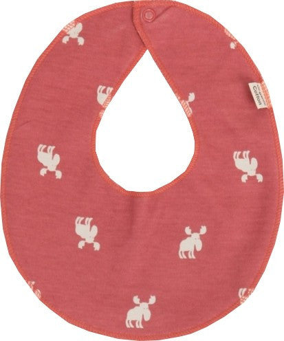 Organic cotton bib, red by Urban Elk
