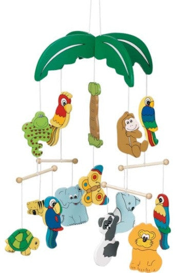 Goki palm tree wooden ceiling mobile