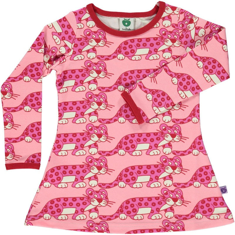 Smafolk baby dress with leopards