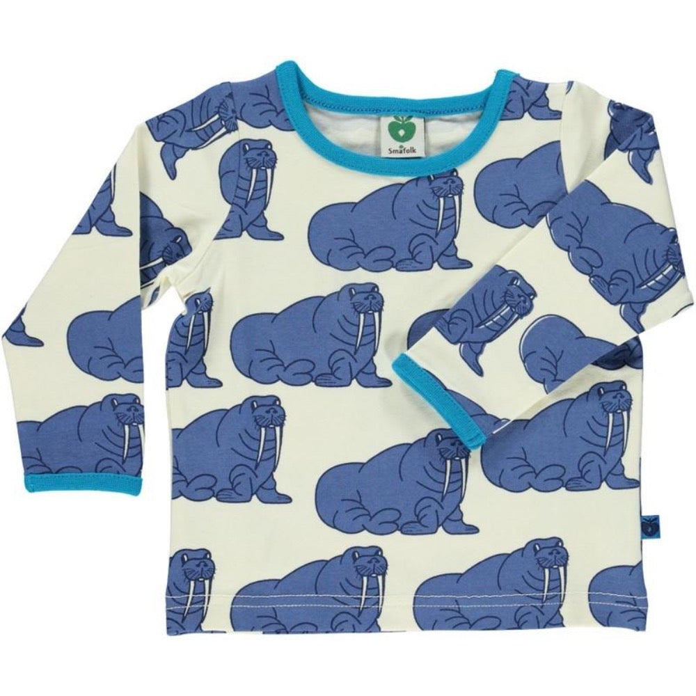 Smafolk baby t-shirt with walrus print