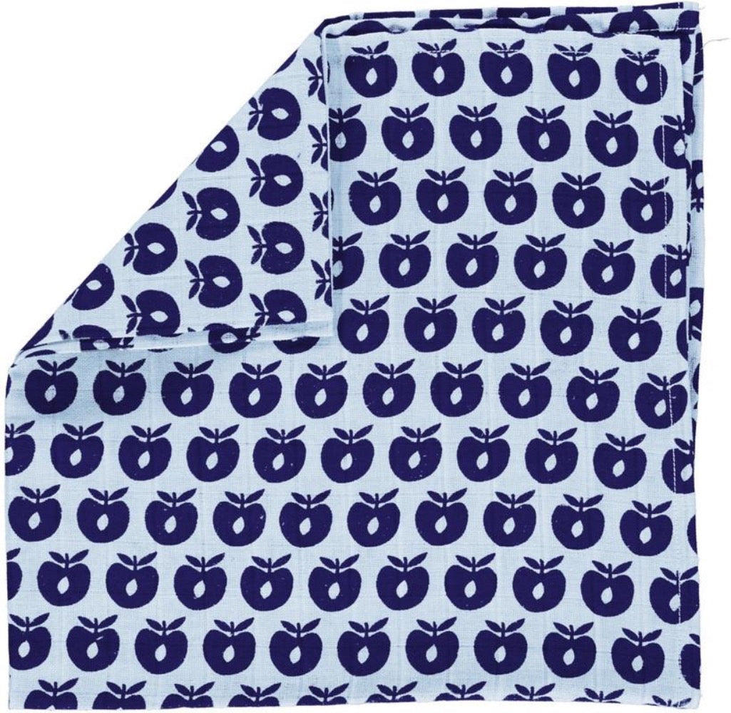Smafolk burp cloth, baby blue
