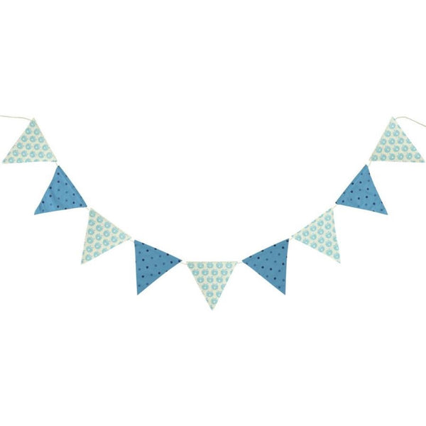 Smafolk flag garland, blue