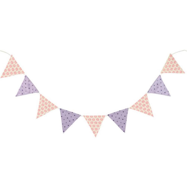 Smafolk flag garland, rose and purple