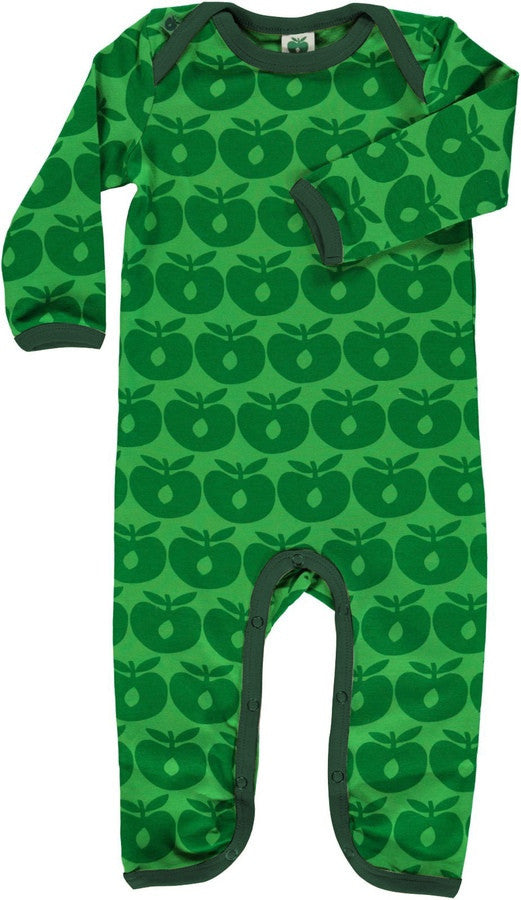Smafolk one-piece, green apples