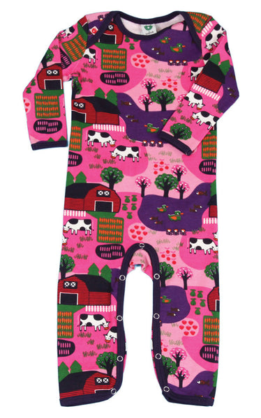 Smafolk  one-piece with farm print