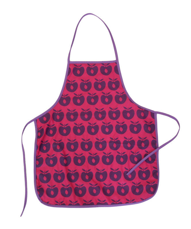 Smafolk pink apron with apples