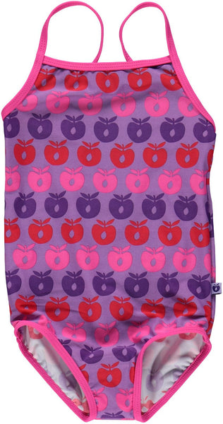 Smafolk purple swimsuit with apples