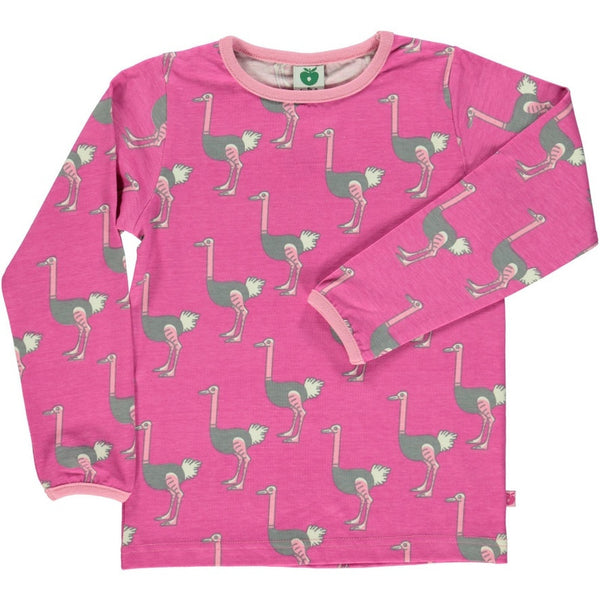 Smafolk t-shirt l/s, ostrich <br>Size 2-8 years