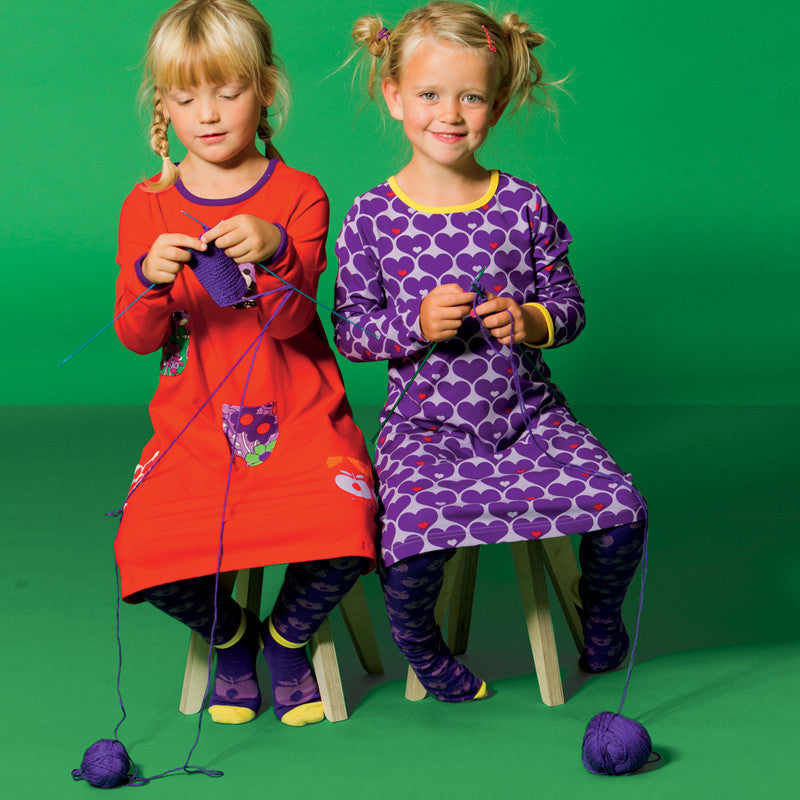 Smafolk tights, dark purple<br>Size 1-10 years