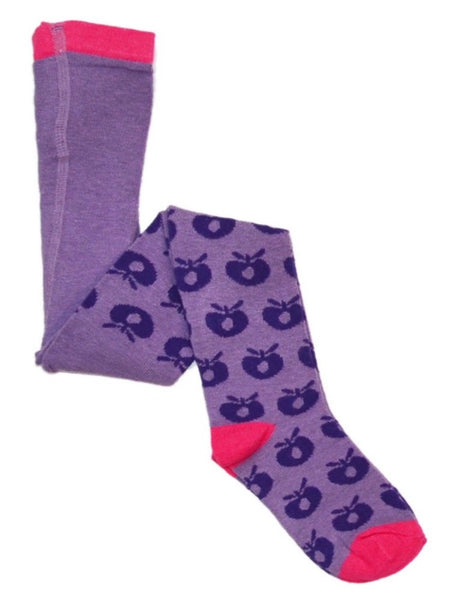 Smafolk tights, purple apples