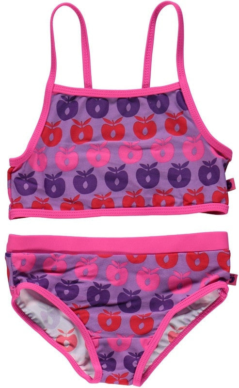 Smafolk two-piece, purple with apples <br>Size 2-6 years
