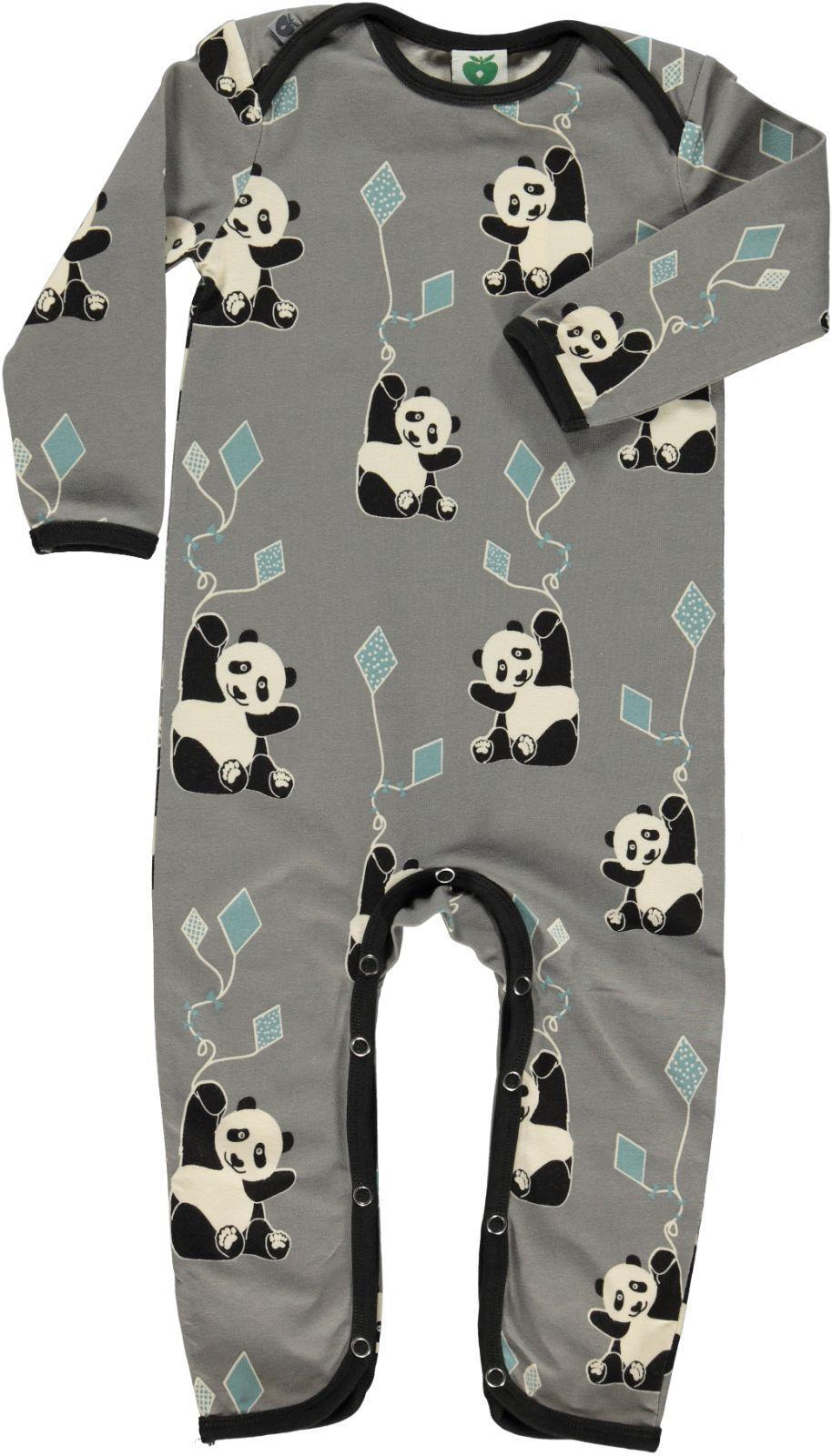 Smafolk Panda and Kite One-Piece, Gray
