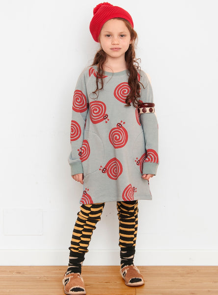 Nadadelazos Organic Dress - Snails