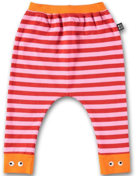 UBANG baby pants, pink/red stripes