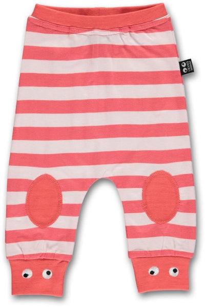Ubang organic baby pants, red stripes