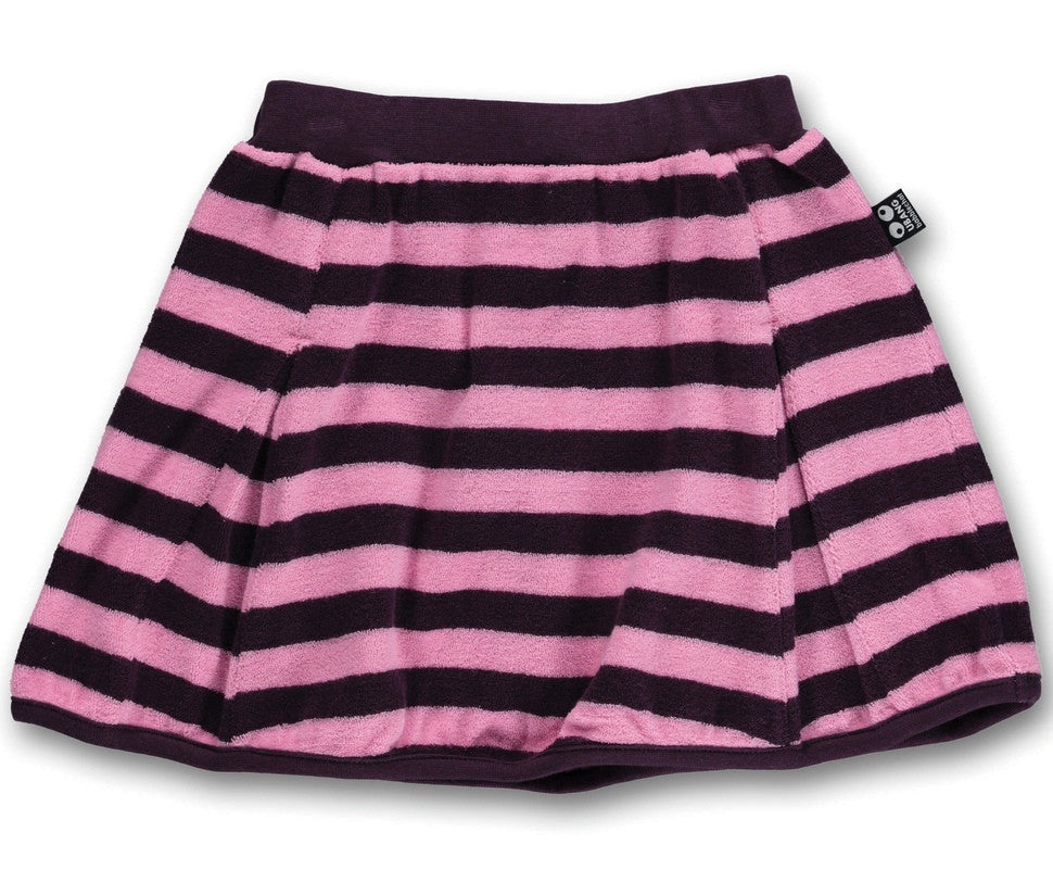 UBANG pleated skirt, stripes