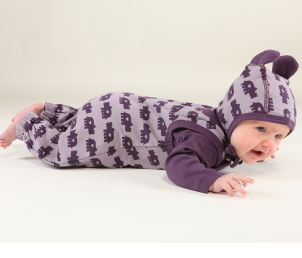 Urban Elk baby hat, Rhino march<br>100% organic cotton