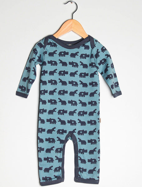 Urban Elk one-piece, Hungry Hippo<br>100% organic cotton