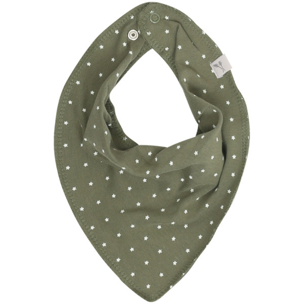 Wheat baby bib scarf, dark army green
