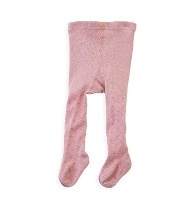 Wheat baby tights dusty rose, dots