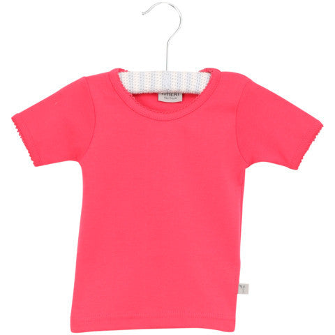 Wheat basic t-shirt s/s, pink<br>3-10 years
