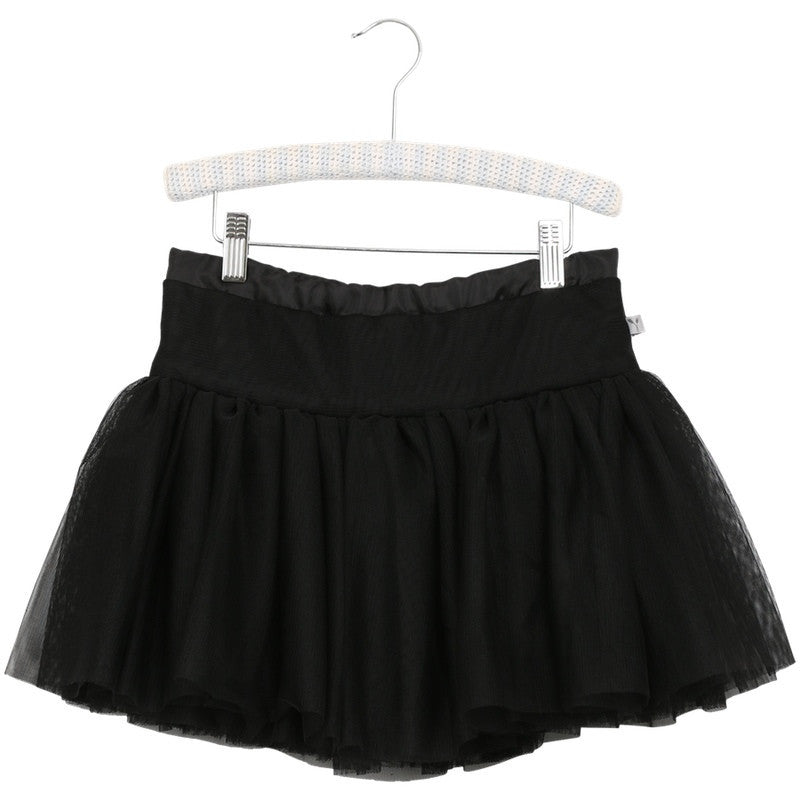 Wheat black tulle skirt