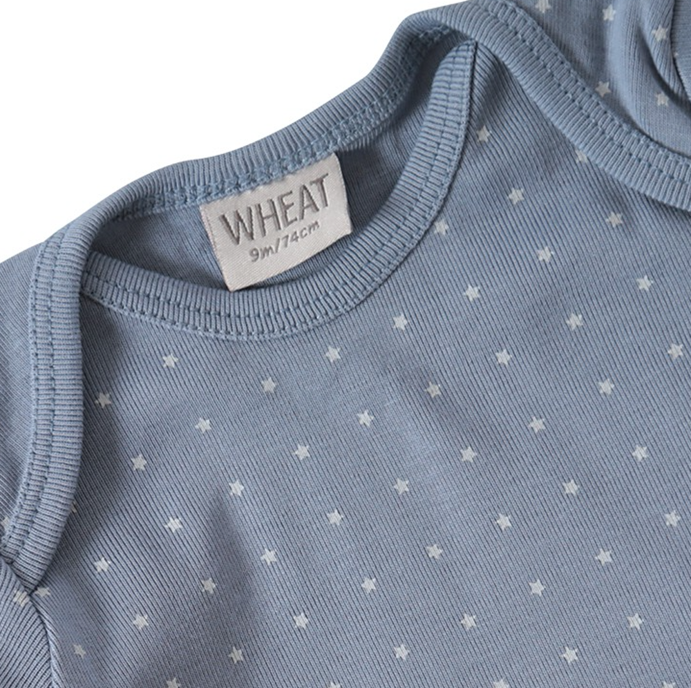 Wheat star t-shirt l/s, dusty blue