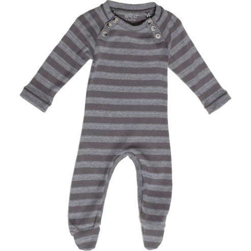 Wheat one-piece stripes with feet