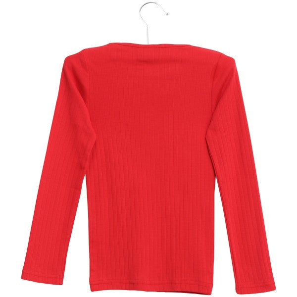 Wheat basic rib t-shirt l/s, red