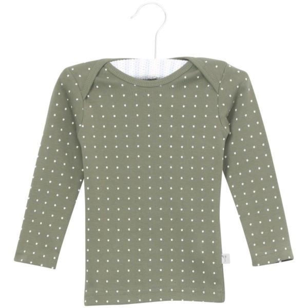 Wheat star t-shirt l/s, army green