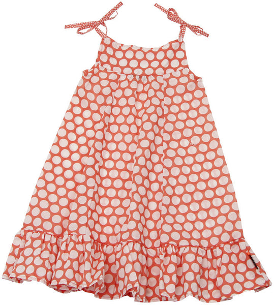 Ziestha polka dot dress, orange