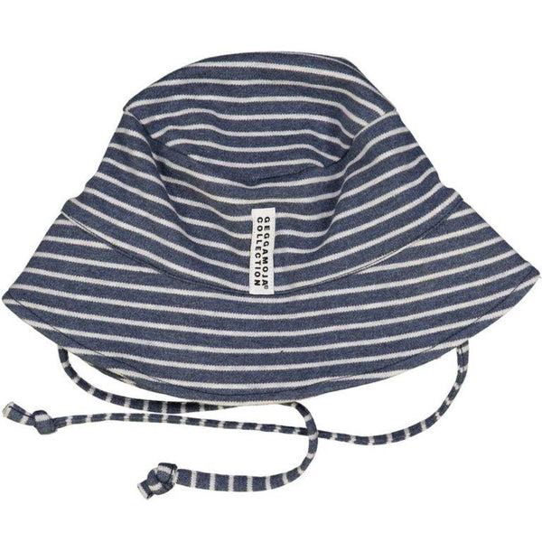 Geggamoja summer hat, blue stripes