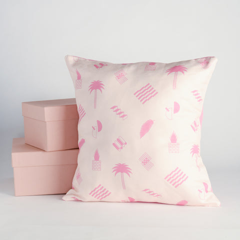 Random Acts of Pastel / Pink Abstract Throw Pillow
