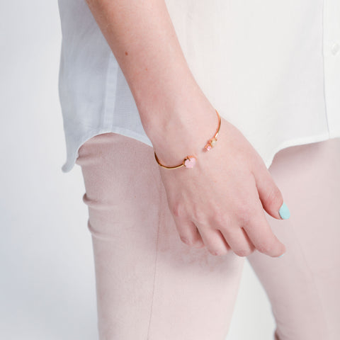 Random Acts of Pastel / Rose Gold Bracelet