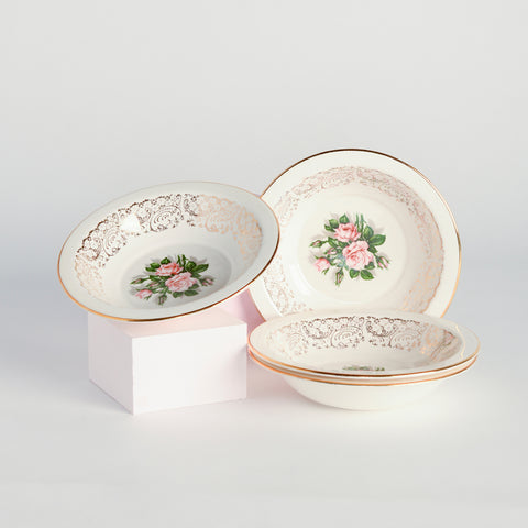 Random Acts of Pastel / Garden Rose Bowl Set