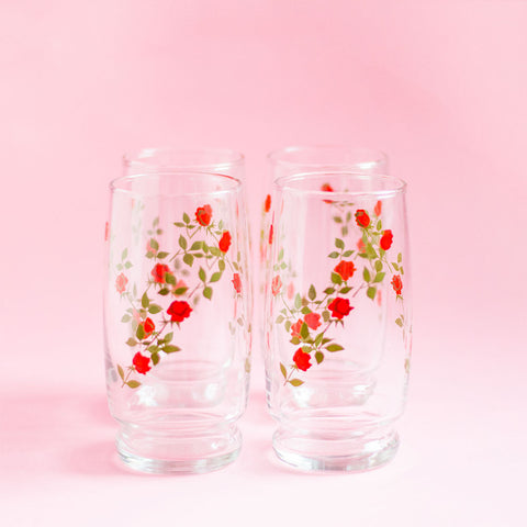 Coming Up Roses Glasses